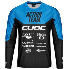 Cube Edge X Actionteam Round Neck Jersey Longsleeve Men, black´n´blue